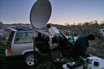 Ron, K7RJ, working Charlie, N7MLD on 10 GHz WFM