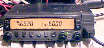Front panel of the Kenwood TM-733A