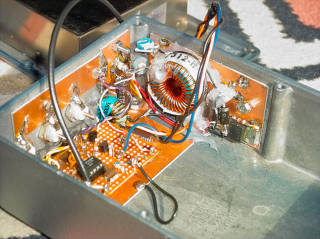 Inside the Rubidium standard's enclosure