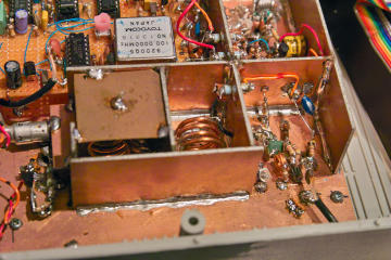 Filter/amplifier compartment of the receiver