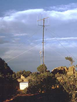 The transmit site uses a 5 element yagi to increase the 300 watts to over 2kW ERP.
