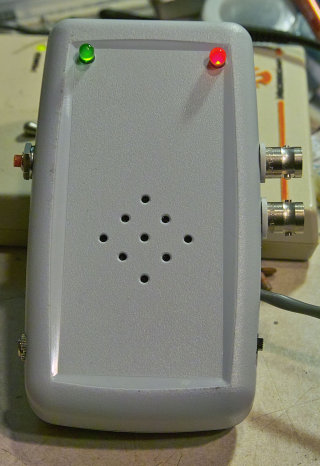 Prototype                 of the PIC-based TDOA circuit in enclosure