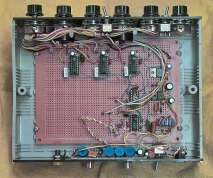 A view of the proto board containing the pulse and blanking generators