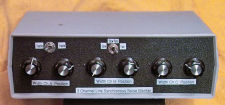 Front panel of the Synchronous Noise Blanker
