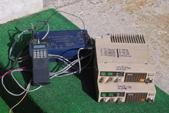 The voting controller, receivers, and link transmitter.